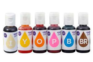 Colorantes alimentarios liquidos