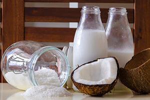 Como hacer leche de coco
